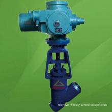 Válvula de globo motorizada tipo Y do selo da pressão do ANSI (GAJ965)