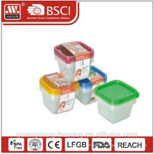 Comida de plástico quadrado recipiente 0.55L(4pcs)