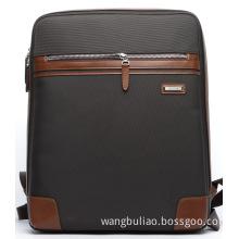 Fashion Travel Sport Hiking Nylon Leather Bag Laptop Backpack (114-08806)