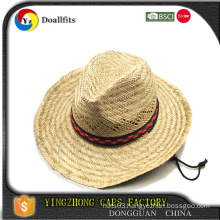 Black Plain straw hat with beer bottle opener