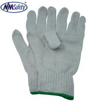 Luvas de trabalho de segurança de algodão branco NMSAFETY sem costura 100% algodão luvas