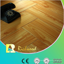 Hogar 12.3mm en relieve Hickory encerado con bordes Lamianted Floor