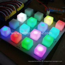 Teclado de borracha LED para piano musical com teclado MIDI