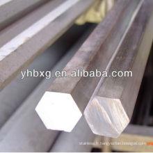 barre hexagonale en acier inoxydable 304
