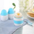juego de 6, 2 cucharas, sal y pimienta y 2 huevos de porcelana