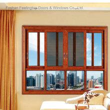 Окна алюминиевые раздвижные с москитной сеткой (М-W132)