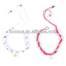 Handmade four leaf clover bracelet/bangle