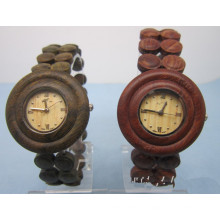 Hlw031 OEM Men′s and Women′s Wooden Watch Bamboo High Quality Wrist Watch
