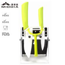 Cuchillo multifuncional con mango de color para productos de cocina