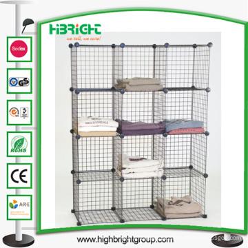 Armazene o cubo do organizador da roupa da mini grade dos dispositivos elétricos