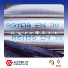 """BS1139 1 1/2 """"tubo gi para fabricante de andamios"""