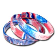 Multi Color Mixed Camouflage Swirl Silikon-Armband