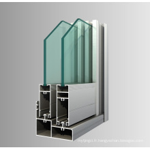 Profilé de portes d'aluminium en aluminium extrudé en aluminium