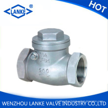 316 Stainless Steel Check Valves / NPT Bsp Threaded Swing Check Valve Dn50 Pn16