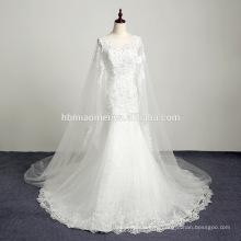 Белый милая длина пола органзы бальное платье фактические длинный поезд вышитые вскользь платье венчания