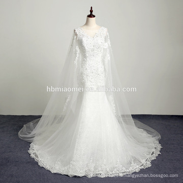 Chérie blanche étage longueur organza robe de bal réelle longue train brodé robe de mariée décontractée