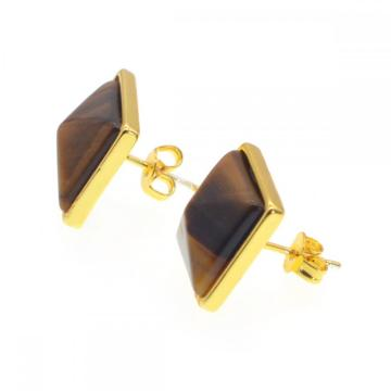 Tiger's Eye Friendship Boucles d'oreilles