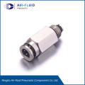 Air-Fluid Divider Valve Outlet Adapter with Check