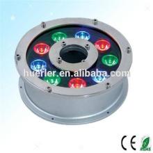 Lampe rotative à haute performance en plein air sous rgb pour fontaines, éclairage extérieur à LED imperméable à l'eau IP65