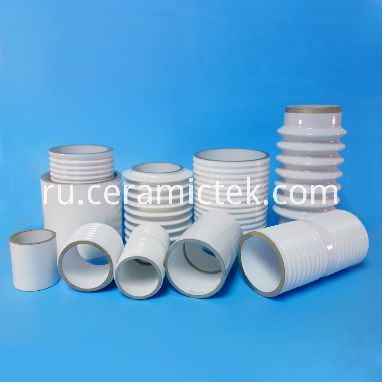 Large size metallized ceramic cylinders