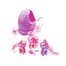 Mädchen-Spielzeug weiches Plastikpferd im Ei-Wagen-Förderung-Geschenk (h0839018)