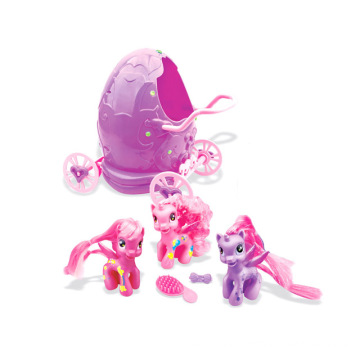 Girl′s Toy Soft Plastic Horse in Egg Carriage Promotion Gift (H0839018)