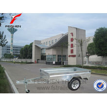 china hot dipped galvanized box trailer