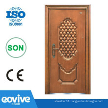 Gold coppery iron safety door design