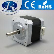 El motor paso a paso nema 17 con conector engastado, eje de llave o eje plano están disponibles