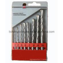 Ensemble de forets à maçonnerie pour outil électrique 8PCS, emballage sous blister en plastique