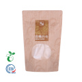 Berkualiti Tinggi Zip Kraft Paper Bag Window Transparent