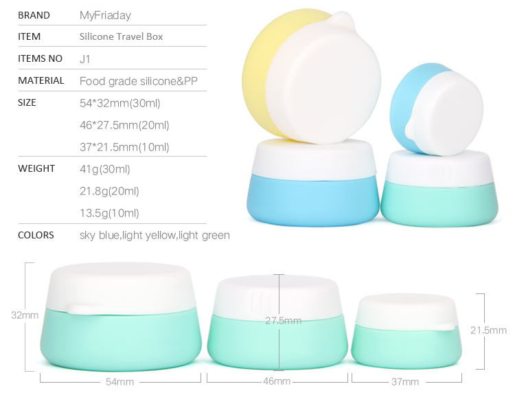 30ml pill cream silicone container