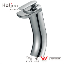 Haijun Top Quality Ornate 0.1~1.6MPa Deck Mounted Bathroom Basin Brass Faucet