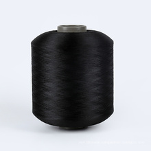 Manufacturer price 100D pet polyester recycled yarn GRS certificate TC for woven label
