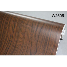 Película de la piel de la puerta del PVC de la membrana del color de madera para la puerta del MDF