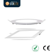 Customizable 6W 12W 18W 20W Round/Square LED Panel Downlight