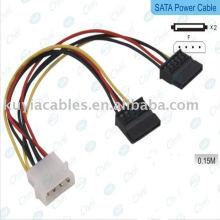 2 IDE al cable del adaptador de la energía del disco duro de SATA de Serial ATA