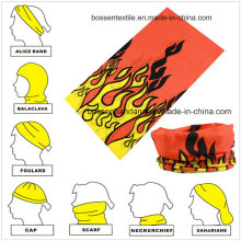 Werbeartikel Mikrofaser Custom Design Mehrzweck Buff Sport Kopfband