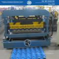 Azulejo de acero del color que hace la máquina