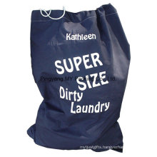 Cheap Price Polyester Laundry Drawstring Bag