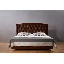 High Quality Classic Leather Bed for Bedroom Furniture (B001)