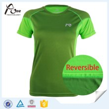 Women Sexy Jogging Wear Reversible T Shirt Sports Wear