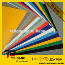 Feuille en aluminium peinte de haute qualité de 3 mm d'épaisseur avec fournisseur de prix compétitif