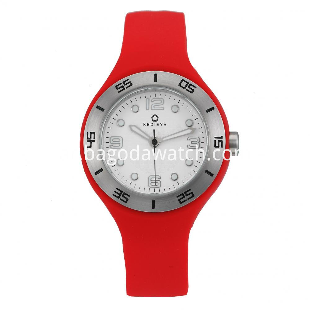 Silicone Quartz Watches