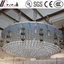 Lustre rond en cristal clair décoratif de lobby européen d'hôtel d'hôtel