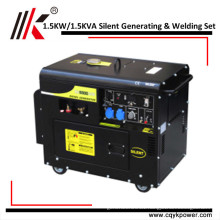 PORTABLE DIESEL GENERATOR 1.5KVA/1.5KW SILENT TYPE GENERATING AND WELDING SET