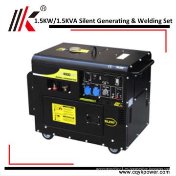 Cabeza del generador de 4kw 4.5kva / 5kva para la venta generador portátil barato del soldador generador de soldadura diesel portátil 4kw