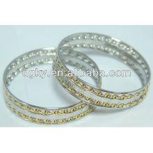 Pulsera de acero inoxidable brazalete pulseras chapado en oro