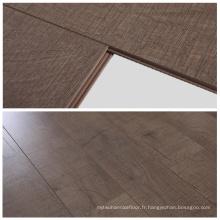 Plancher stratifié écologique imperméable de style d'acacia de surface de 10mm