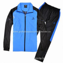 Men's Track Suit, Made of 100% Polyester Tricot 220g